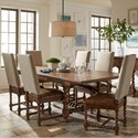 Riverside Furniture Pembroke 7 Piece Table and Chair Set - Item Number: 17150+6x7