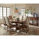 Riverside Furniture Pembroke Round Dining Table with an 18