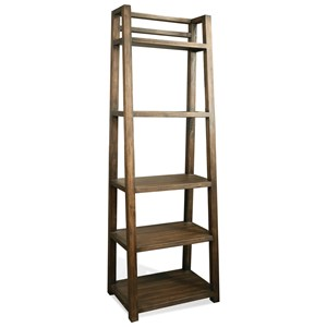 Riverside Furniture Perspectives Leaning Bookcase