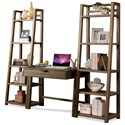 Riverside Furniture Perspectives Leaning Bookcase with 5 Shelves