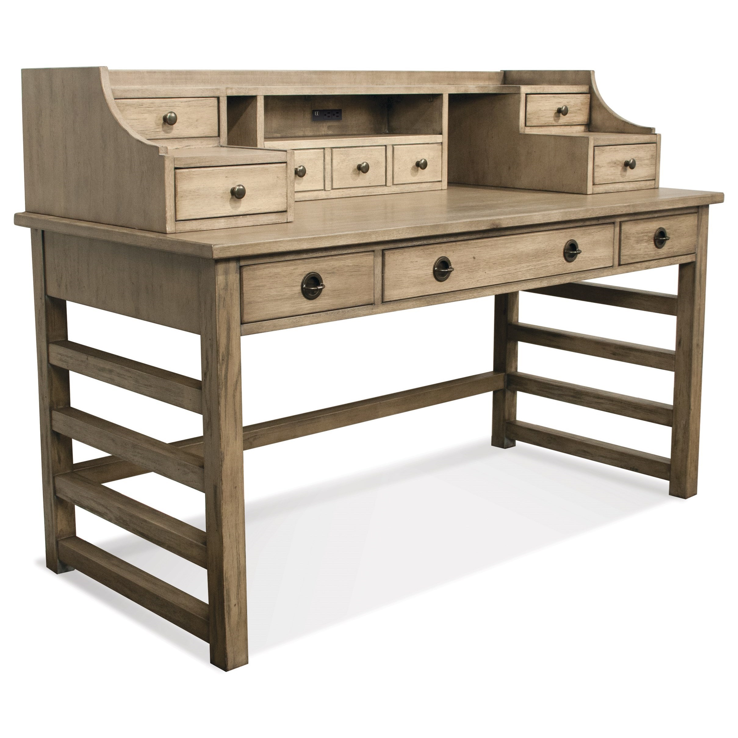 with cherry bookcase garden yorktown free today in desk drawers shipping cabinet l hutch product shaped and file overstock home