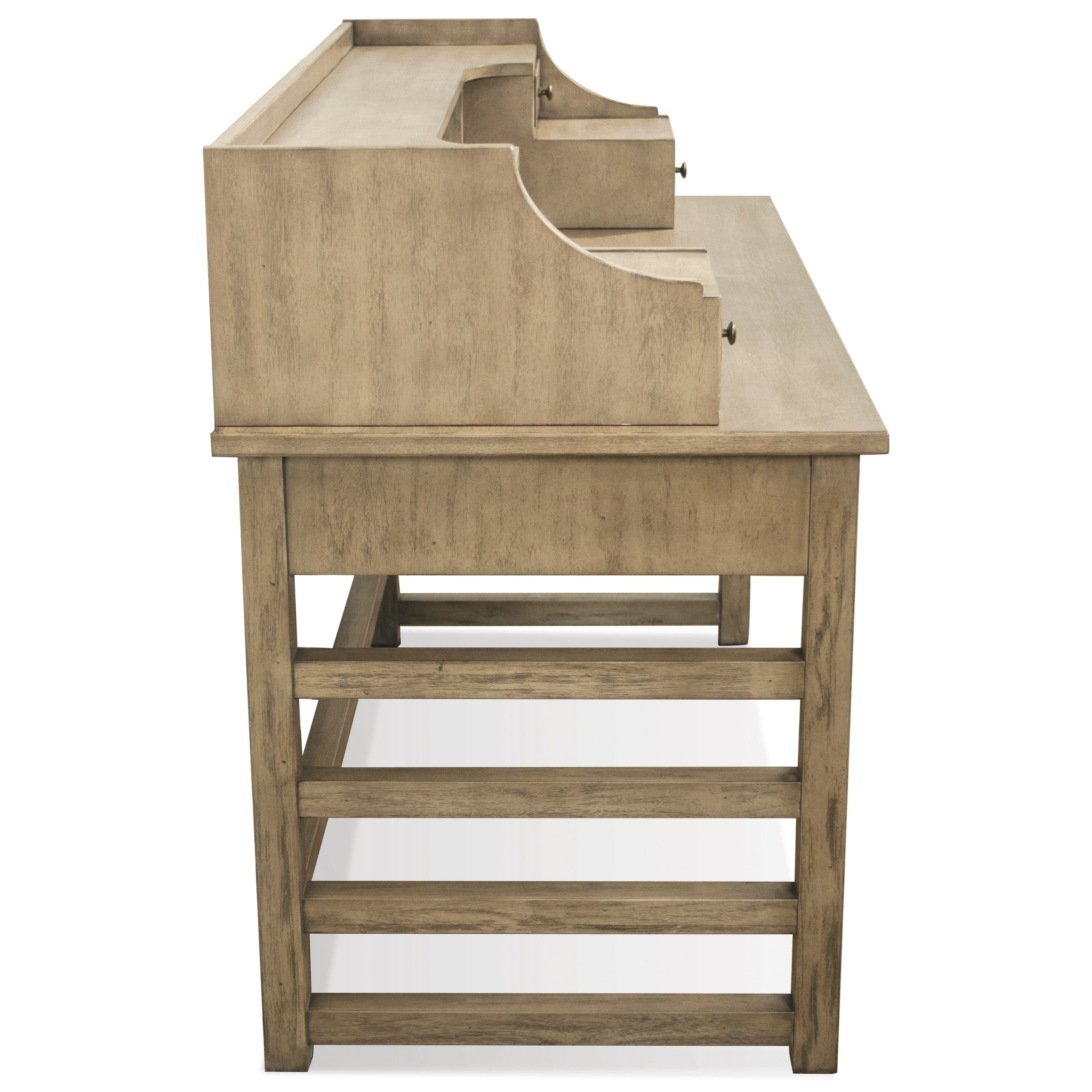Riverside furniture perspectives 28131 leg desk with hutch - Home office furniture components ...