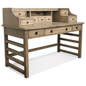 Riverside Furniture Perspectives Leg Desk With Hutch