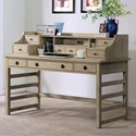 Riverside Furniture Perspectives Leg Desk With Hutch and 8 Total Drawers