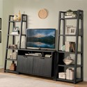 Riverside Furniture Perspectives Entertainment Wall Unit with Console and Leaning Bookcases