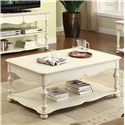 Riverside Furniture Placid Cove Rectangular Cocktail Table with Bottom Shelf