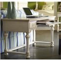 Riverside Furniture Placid Cove Writing Desk with 3 Drawers - Shown with Drawer Open