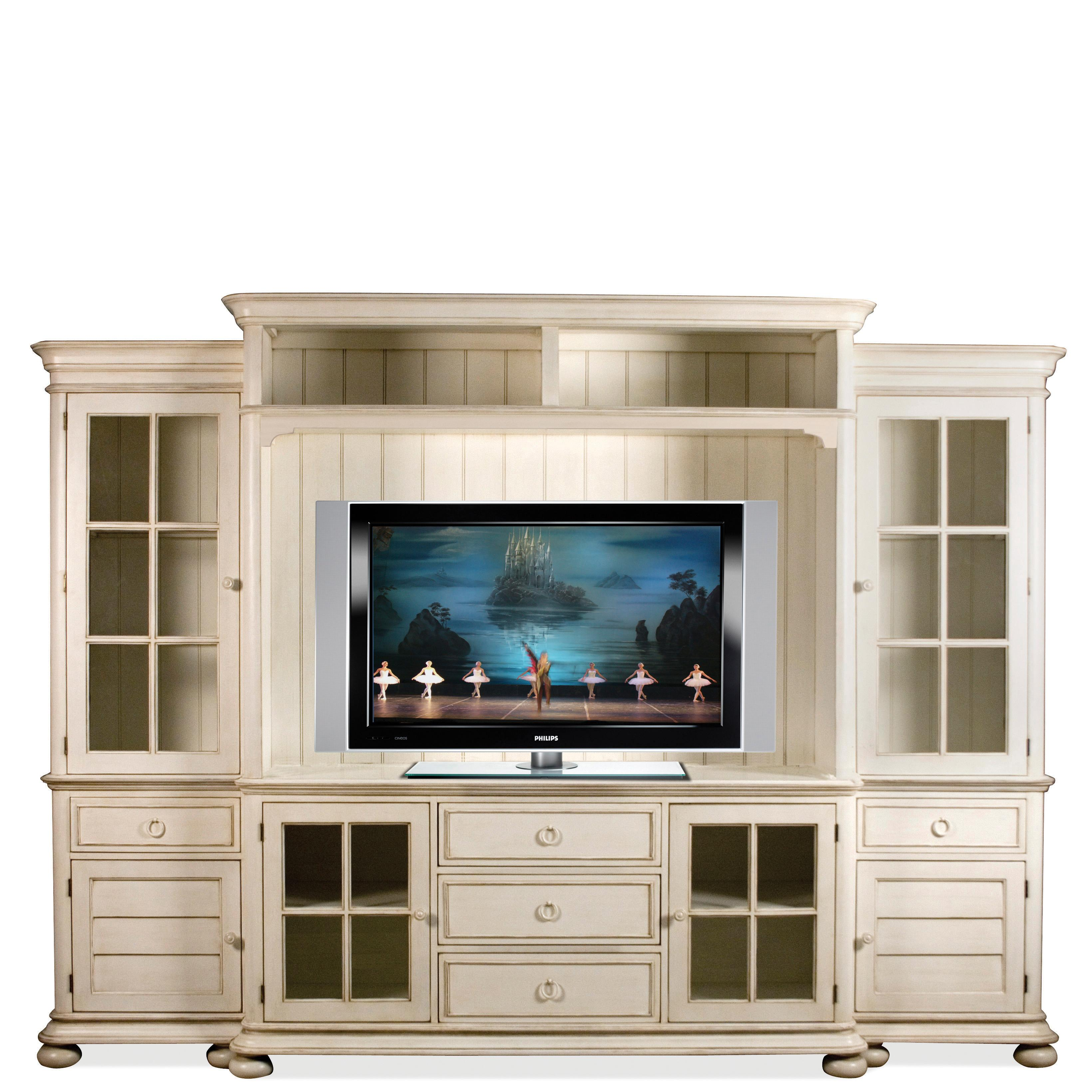Riverside Furniture Placid Cove Entertainment Wall Unit With Panel Glass  Doors   AHFA   Wall Unit Dealer Locator