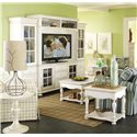 Riverside Furniture Placid Cove Entertainment Wall Unit with Panel Glass Doors