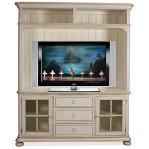 Riverside Furniture Placid Cove Entertainment Console w/ Hutch