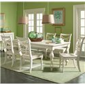 Riverside Furniture Placid Cove 7 Piece Rectangular Dining Table & Side Chair Set