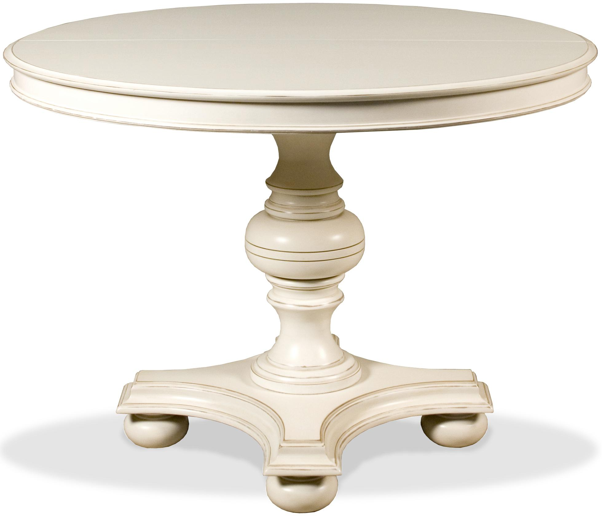 Placid Cove 42 Round Dining Table With Pedestal Base By Riverside