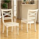 Riverside Furniture Placid Cove X-Back Side Chair with Turned Legs - Shown in Room Setting