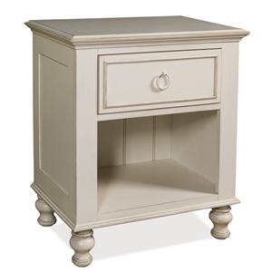 Riverside Furniture Placid Cove 1-Drawer Nightstand