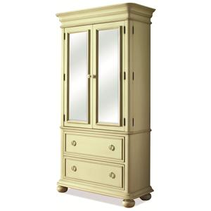 Riverside Furniture Placid Cove Armoire with 2 Drawers