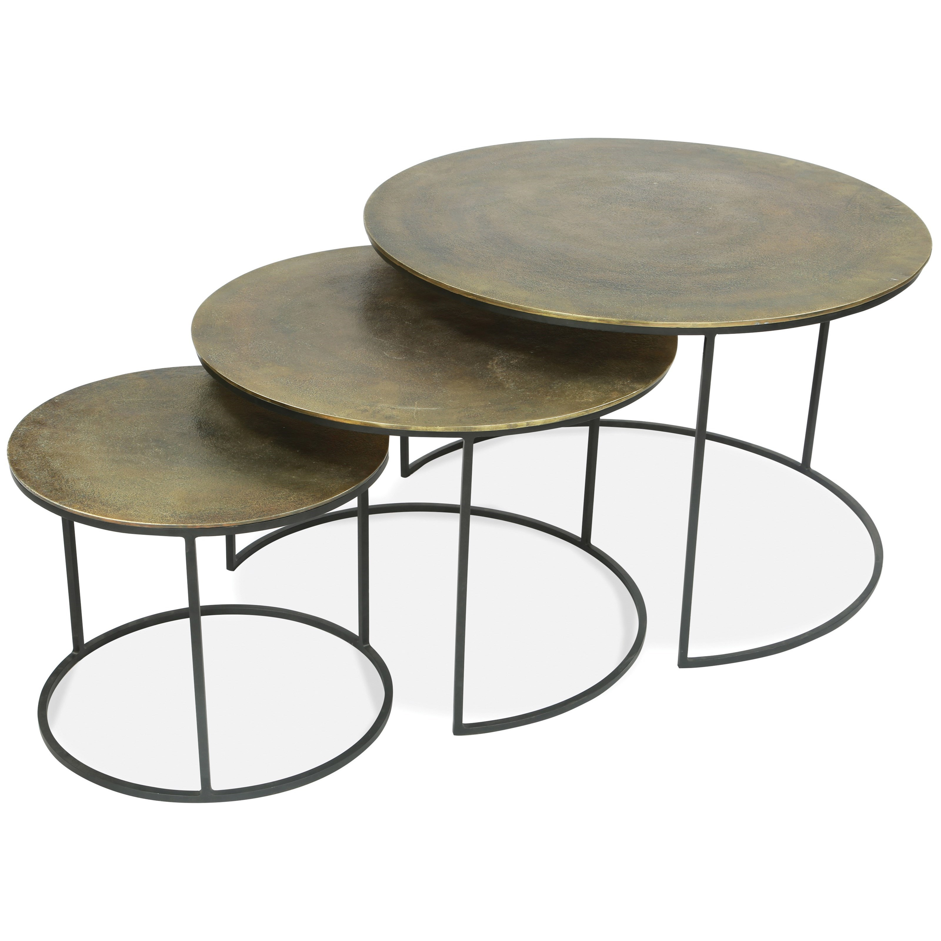 Riverside Furniture Portia 53202 Nesting Coffee Tables With Aluminum Wrapped Tops Hudson S Furniture Cocktail Coffee Tables