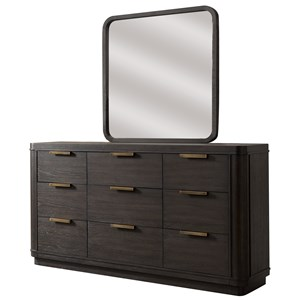 Riverside Furniture Precision Dresser and Mirror Combo