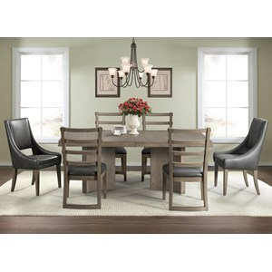 7-Piece Pedestal Dining Table Set