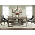 Riverside Furniture Precision 7-Piece Pedestal Dining Table Set - Item Number: 21851+50+2x55+4x58