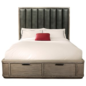 Queen Tall Upholstered Storage Bed