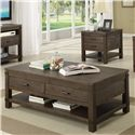 Riverside Furniture Promenade  Rectangular Cocktail Table with 2 Drawers  - Shown in Room Setting