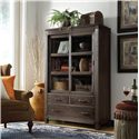 Riverside Furniture Promenade  Sliding Door Bookcase  - Shown in Living Room Setting