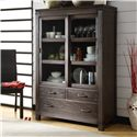 Riverside Furniture Promenade  Sliding Door Bookcase  - Shown in Dining Room Setting