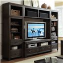 Riverside Furniture Promenade  Entertainment Wall Unit - Shown in Room Setting