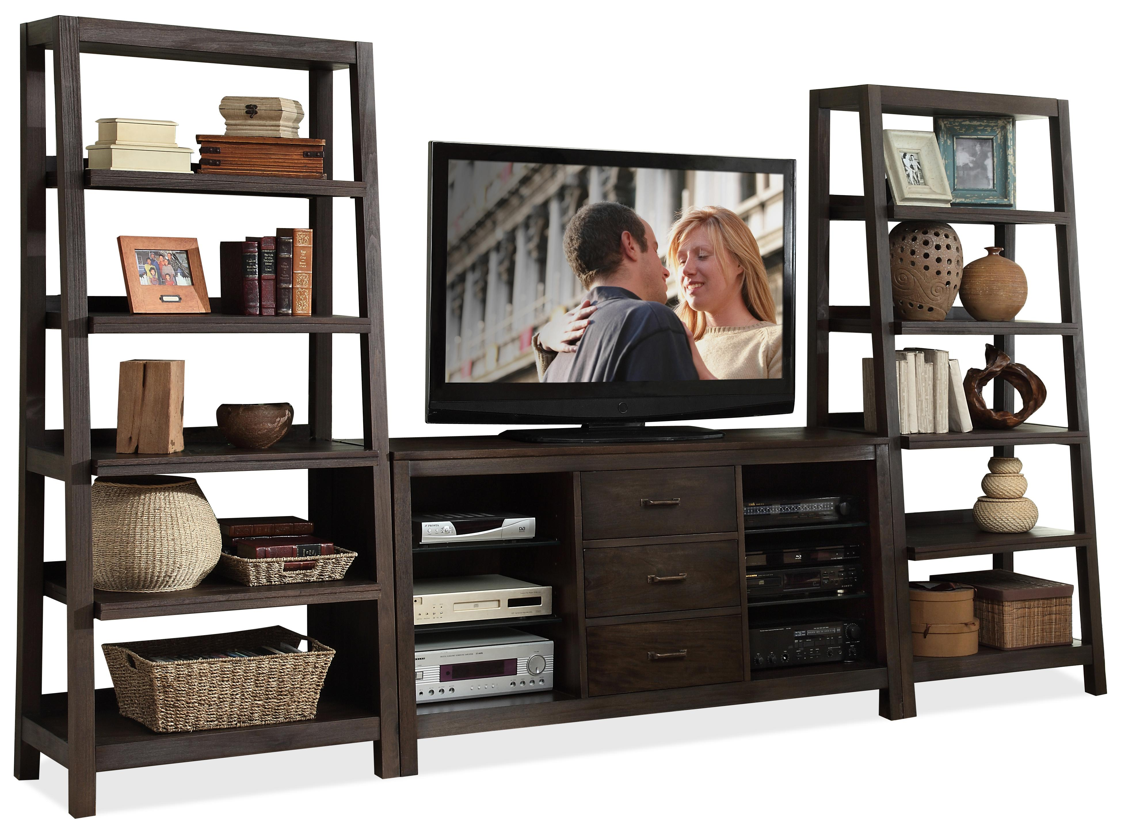 Riverside Furniture Promenade 84541+2x37 Canted Entertainment Wall ...
