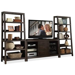 Riverside Furniture Promenade  Canted Entertainment Wall Unit
