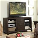 Riverside Furniture Promenade  Canted TV Console with 3 Drawers - Shown in Room Setting