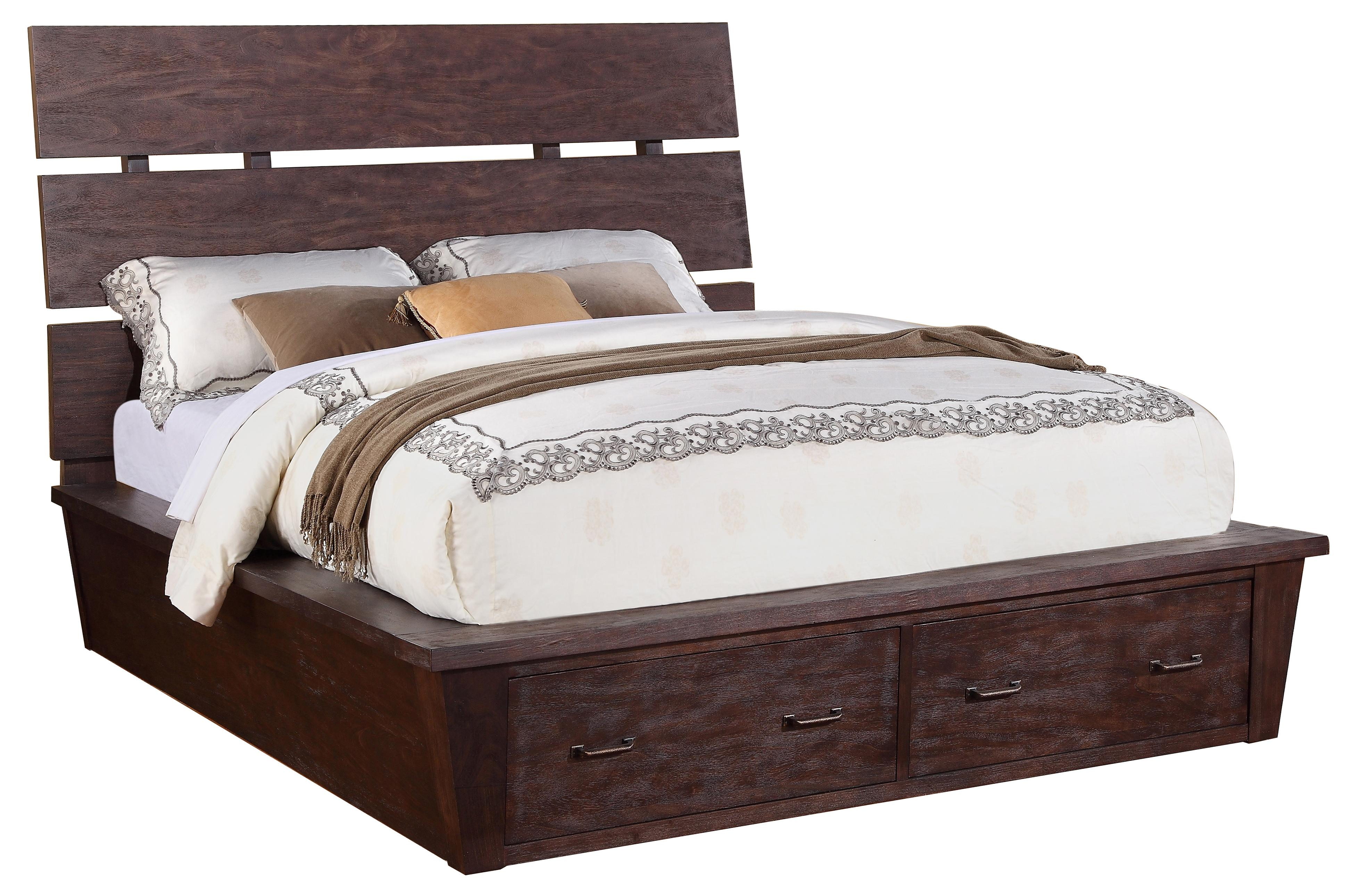 Riverside Furniture Promenade  Queen Platform Storage Bed - Item Number: 84574+73+76