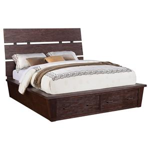 Riverside Furniture Promenade  Queen Platform Storage Bed