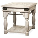 Riverside Furniture Regan Side Table with Metal Accents
