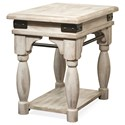 Riverside Furniture Regan Chairside Table with Metal Accents