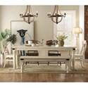 Riverside Furniture Regan Dining Set with Bench - Item Number: 27350+2x357+2x457+358