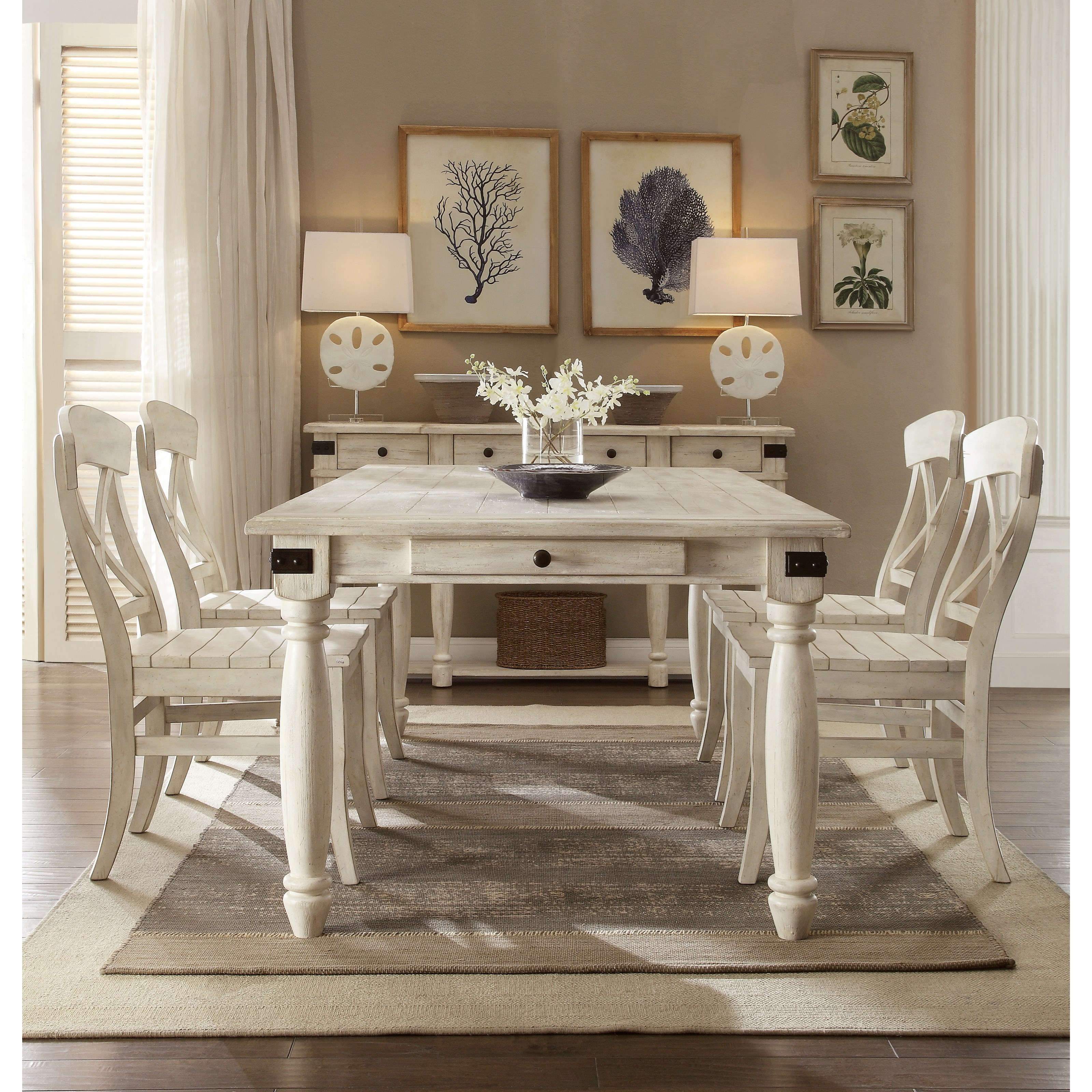 Dining Room Set For 2: Riverside Furniture Regan 5 Piece 2 Drawer Dining Table