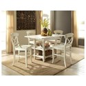 Riverside Furniture Regan Counter Height Dining Table with Center and Bottom Shelf