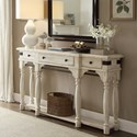 Riverside Furniture Regan Server Console Table with Turned Legs