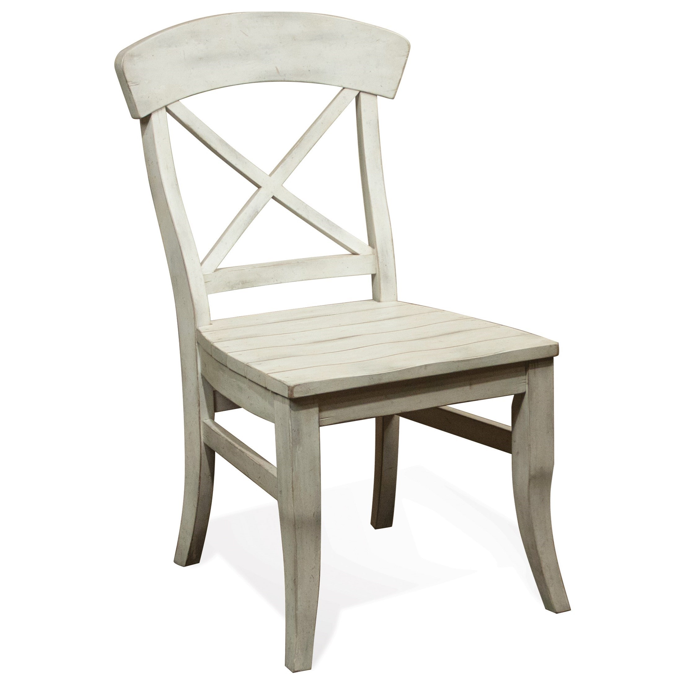 Great Riverside Furniture Regan X Back Dining Side Chair   Item Number: 27357
