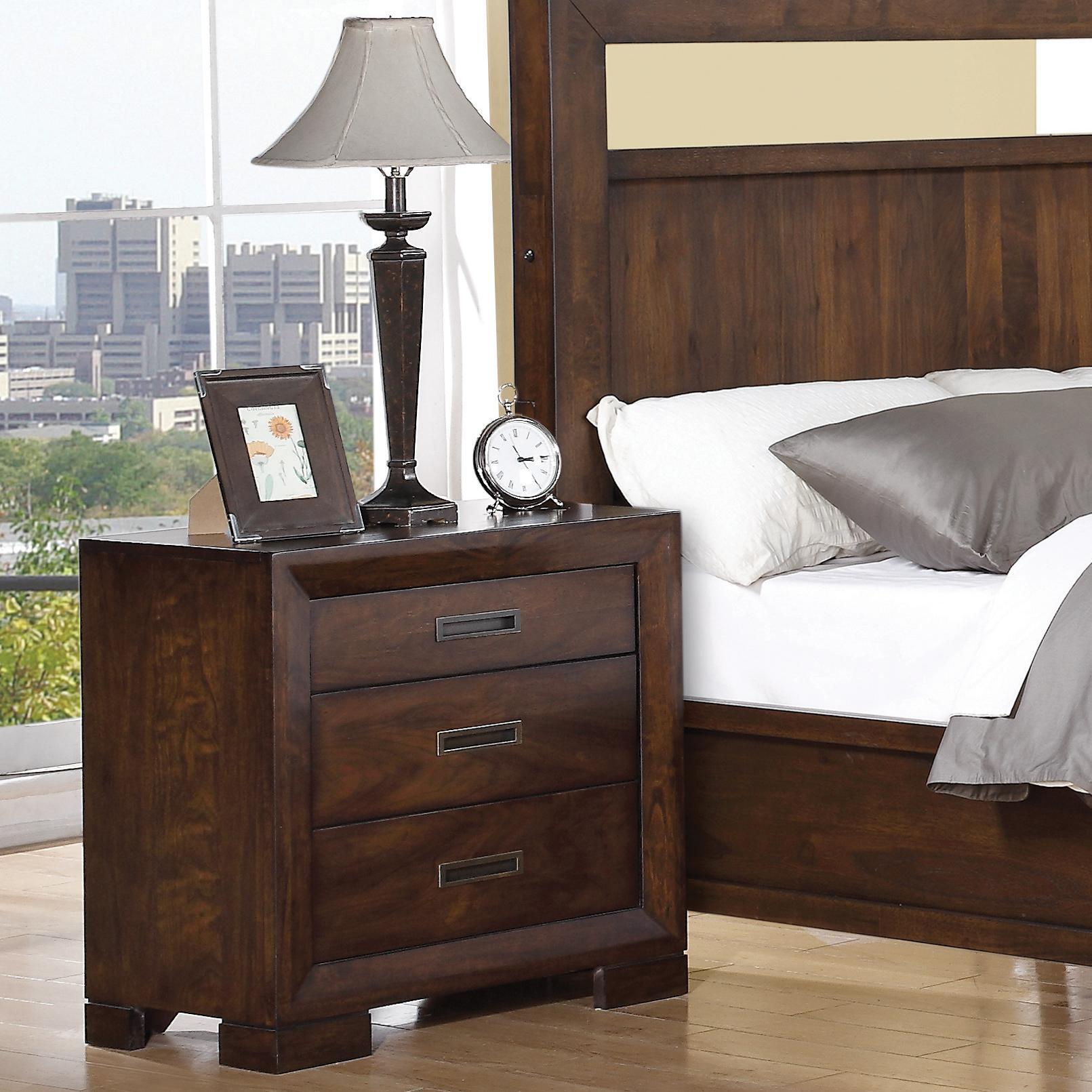 Riverside Furniture Riata Contemporary 3 Drawer Nightstand Jacksonville Furniture Mart Night