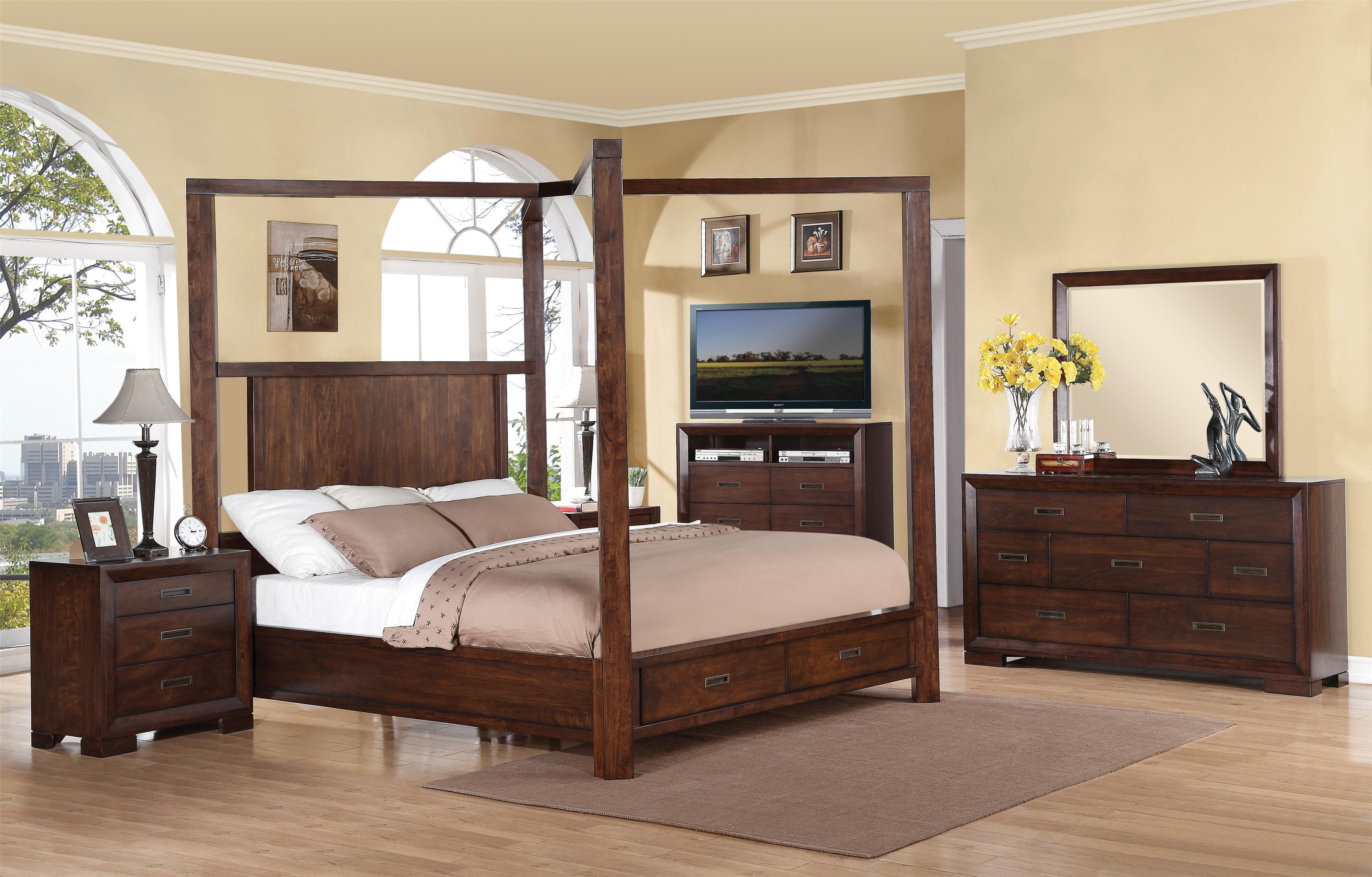 Riverside Furniture Riata Queen Canopy Storage Bed Value