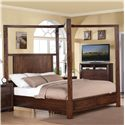 Riverside Furniture Riata Cal King Canopy Storage Bed