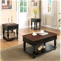Riverside Furniture Richland Traditional Cocktail Table w/ Drawers