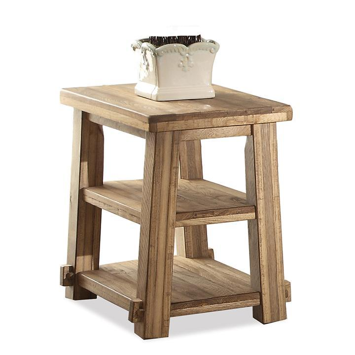 Riverside Furniture Ridgedale Petite Chairside Table W Shelves Inspiration Shumake Furniture Decatur Al Concept