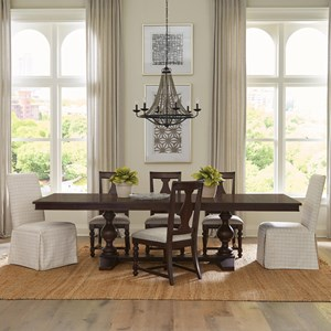 7-Piece Trestle Dining Table Set