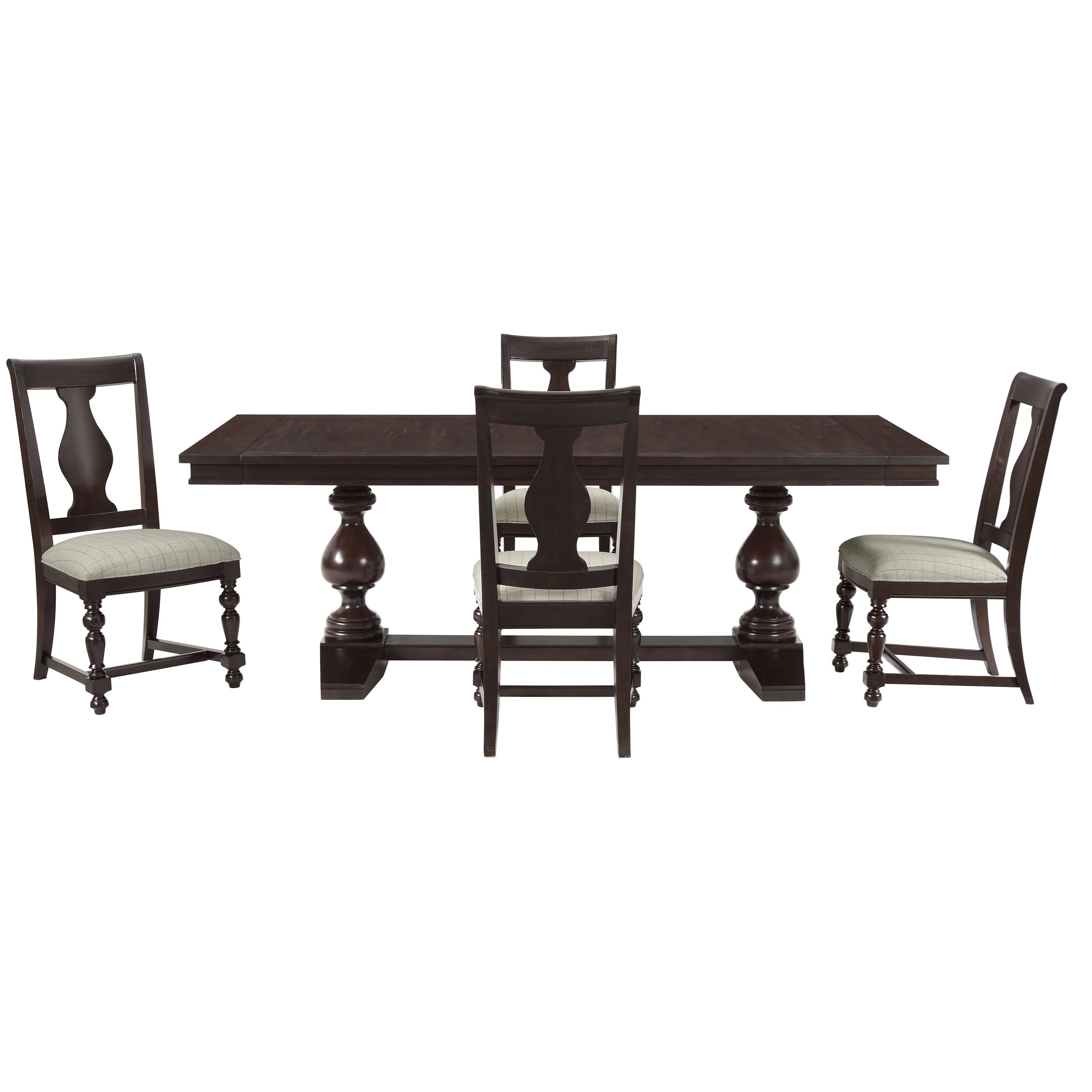 Riverside Furniture Rosemoor 5 Piece Trestle Dining Table Set Lindy S Furniture Company Dining 5 Piece Sets
