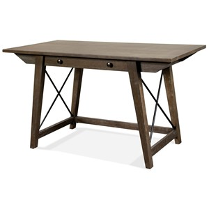 Transitional Writing Desk with Drop Front Drawer