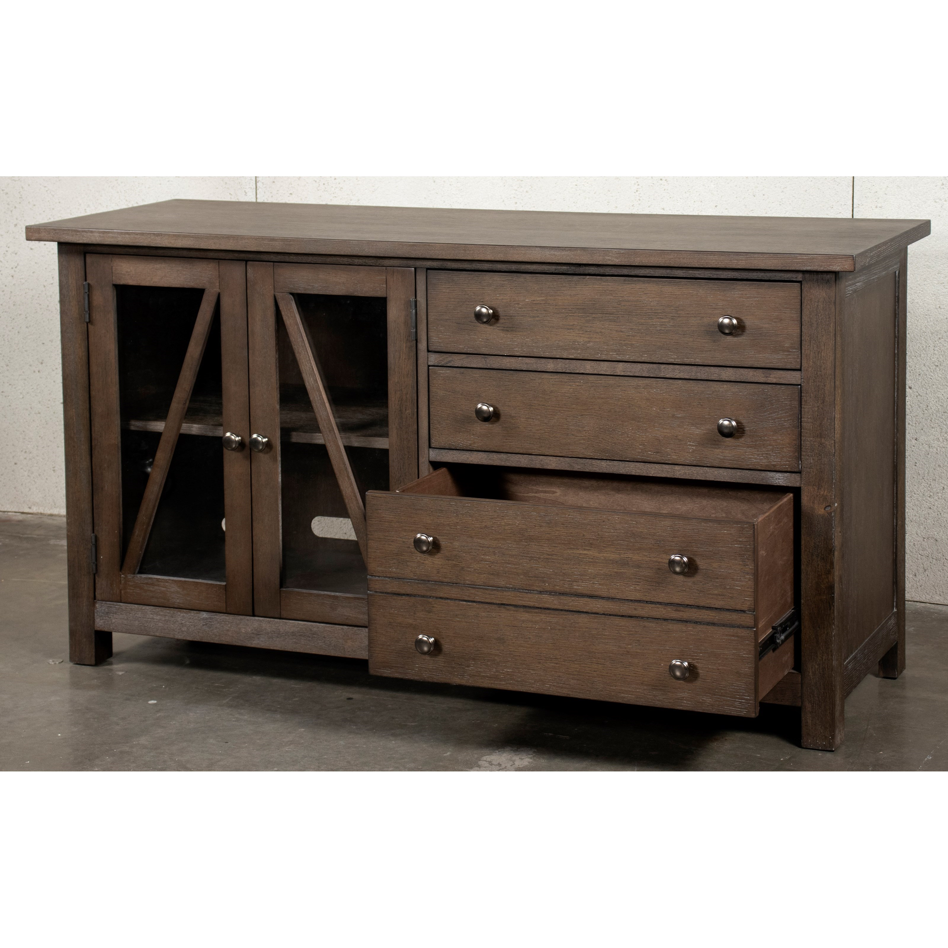 Riverside Furniture Sheffield Transitional Office Credenza