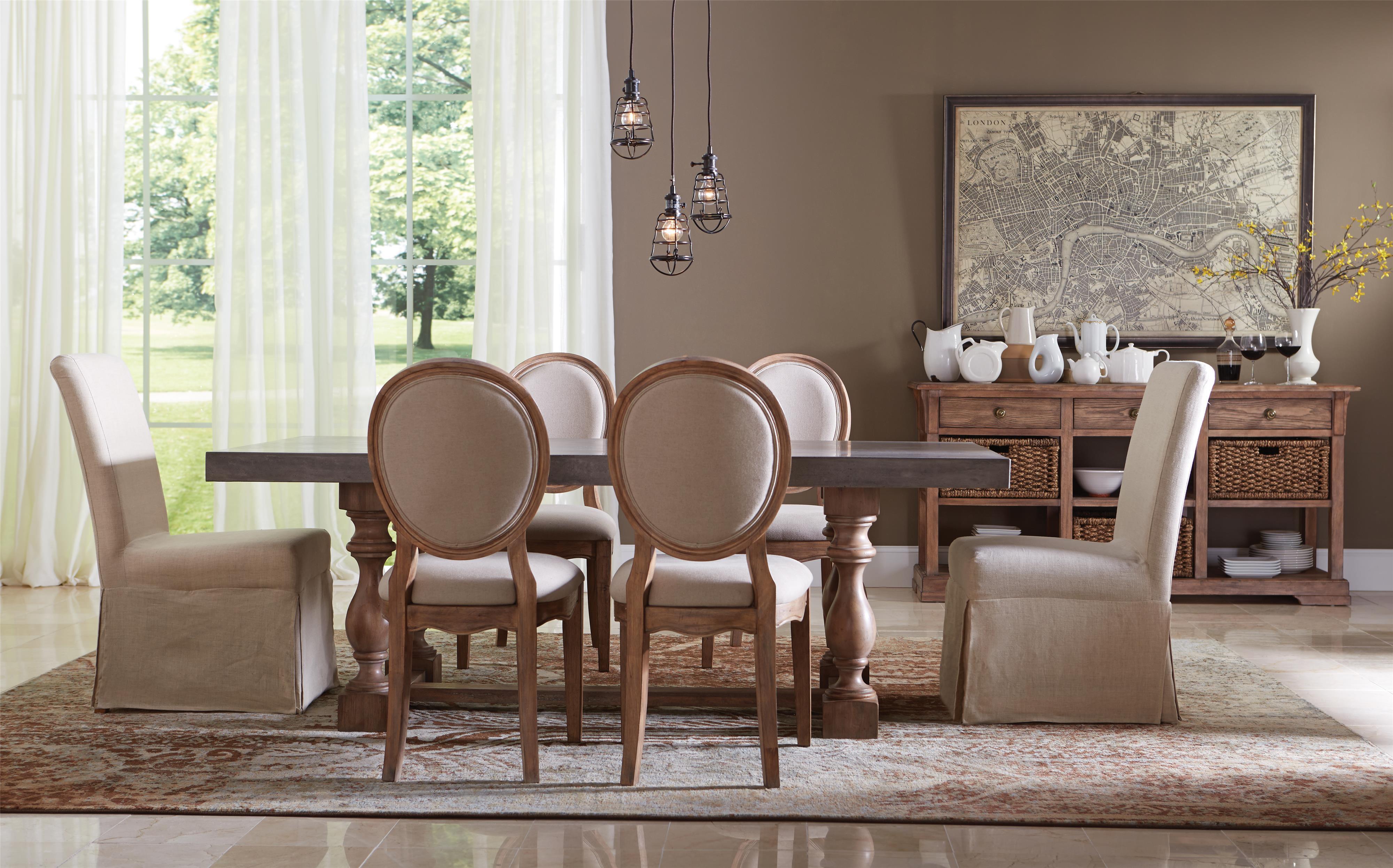 Riverside furniture sherborne formal dining room group 4 for The dining room sherborne